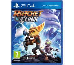 PLAYSTATION 4  Ratchet & Clank Price: £ 27.99 Based on the original PS2 game as well as the new Ratchet & Clank movie, Ratchet & Clank for PS4 is a great new adventure based on classic elements that everyone will remember. A new take on the origin story Explore and save the Solana galaxy in this colourful origin story, which lets you join Ratchet, Clank, Captain Qwark and friends as they...