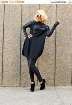 Just in: ON SALE 35% OFF Black Cotton Tunic with Metallic Italian Punto Sleeves / Black Top with Italian Punto Insets / Black Extravagant Tunic Tt66 https://www.etsy.com/listing/246240760/on-sale-35-off-black-cotton-tunic-with?utm_campaign=crowdfire&utm_content=crowdfire&utm_medium=social&utm_source=pinterest