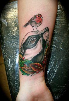 #badger #tattoo