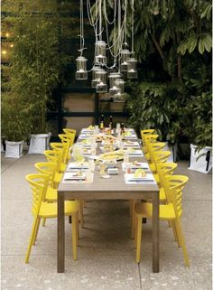lovely set up for a dinner party