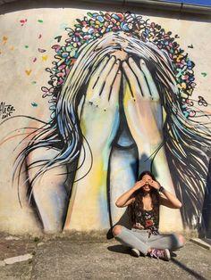 Street art of Alice Pasquini   Molise, Italy 🇮🇹