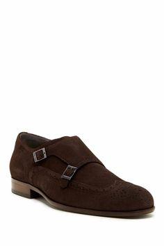HUGO BOSS 'Brostio' Dual Monk Strap Dark Brown Suede Wingtip Oxford Shoe  #HUGOBOSS #OxfordsWingTip