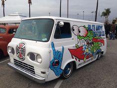Indy and Santa Cruz inspired van. Jim Phillips art
