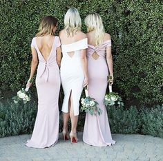 3725d6169bf Love the backs on these Katie May dresses! - - Shop this look at your ·  Blush Pink BridesmaidsBridesmaid ...
