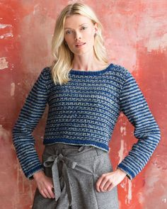 12 – Mosaic Sweater | Knitting Fever Yarns & Euro Yarns