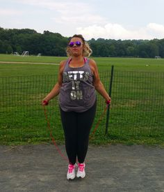 Get it, Dana Jump roping is awesome cardio & you look adorable doing it in your Lola Tank! @whosthatgirl524
