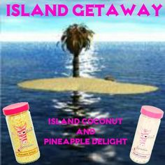 Now you can have an Island Getaway without leaving your home/office...now you can truly enjoy your stay-cation with Island Coconut and Pineapple Delight sprinkles from #PinkZebra.