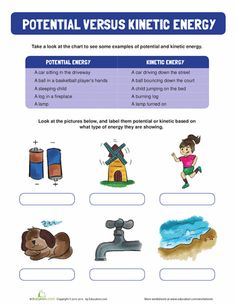 Worksheets: Potential and Kinetic Energy