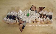 Burlap #Wedding #Garter  #Bridal Garter / Camo Camouflage Garter / Burlap Garter/ Camo Bridal Garter / Wedding Garter Belt/ Rustic Wedding   Burlap, camouflage, lace and bling... #wedding #bride #bridal #garter #hairpiece #weddings #ido #rusticwedding ➡️ http://jto.li/tnB9Z