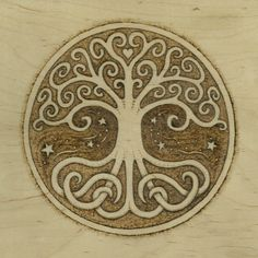 Tree of Life Pyrography Giclee Fine Art Print - by Jason Gianfriddo - Tree of Life Art - Celtic Swirling branches and roots, heart centered Tree Of Life Art, Celtic Tree Of Life, Tree Art, Celtic Symbols, Celtic Art, Wald Tattoo, Symbole Viking, Tattoo Symbole, Magical Tree