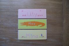 Beautiful name signs for the little ones - Kids by Davina. Find more here: http://www.facebook.com/KidsByDavina