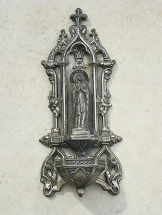Holy Water Font Our Lady of Lourdes by TheAngelsReply on Etsy, $80.00
