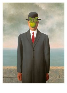 """The Son of Man,"" 1964  Groundbreaking surrealist, Rene Magritte (1898 – 1967) was a master at mixing wit with illusion. Despite early criticism of his work, he became one of the world's most significant artists. Magritte often blocked his subject's face with a floating object, as in ""Son of Man,"" to challenge human assumptions about the unknown. Magritte's work remains mentally stimulating and highly influential."