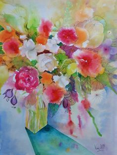 Derrame de color, watercolour + pencil + ink. 42 x 56 cm, by www.kiramamontova.com.ar