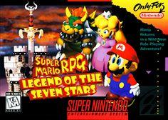 Super Mario RPG: Legend of the Seven Stars Super Nintendo Super Mario World, Super Mario Rpg, Final Fantasy Vi, Super Nintendo, Adventure Rpg, Princess Toadstool, Secret Of Mana, Video Game Posters, Video Games