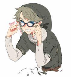めがねの日らしいとみたので→ My headcannon is that Twi!Link is near-sighted.... and I approve of this pic.....