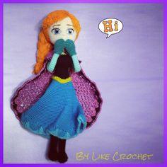 Anna Frozen amigurumi crochet doll Disney