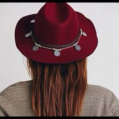 Free People Embellished wide brim festival hat *NWOT* Perfect for festival season!! Wide-brim felt hat with coin embellishments! One size fits all. I do not discuss pricing in comments- please make an offer! Free People Accessories Hats