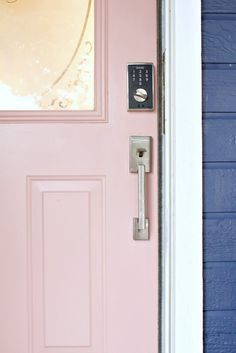 Classy Clutter holiday front door makeover featuring Schlage Touch™ keyless lock.