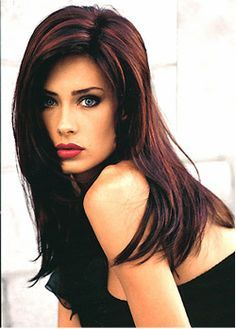 burgendy highlights for brunettes | Dark Hair with Red Highlights, aka Cherry Cola!