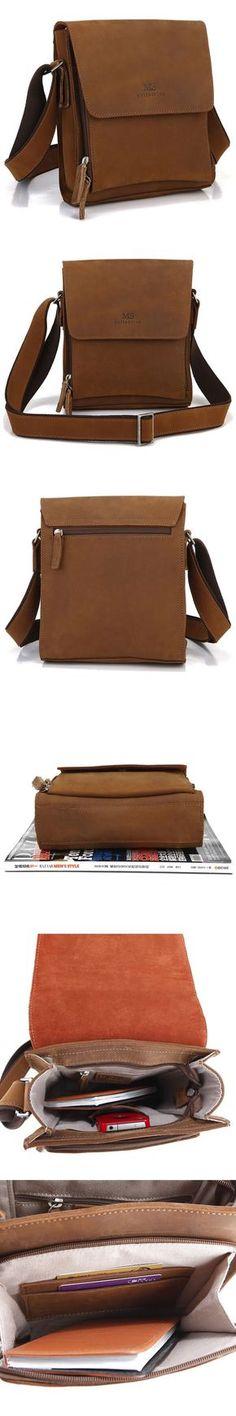 Genuine Saddle Leather Crossbody Bag Shoulder Bag