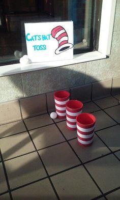 Cat in The Hat/Dr. Seuss Game Informations About Cat in The Hat/Dr. Seuss Game Pin You can easily us 2 Birthday, Dr Seuss Birthday Party, 1st Birthday Parties, Birthday Ideas, Dr Seuss Game, Dr Seuss Week, Dr Suess, Dr Seuss Activities, Preschool Games