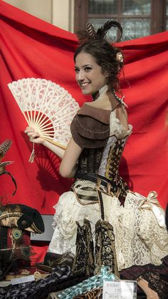 Lots of lace steampunk ladies outfit