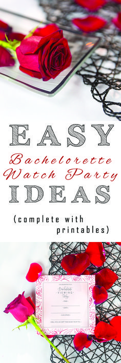 Easy Bachelorette Watch Party Ideas with printable inside! Throw the best Bachelorette or Bachelor watch party! Bachelorette Premiere, Bachelorette Finale, Bachelor Premiere, Bachelor Night, The Bachelor Tv Show, Bachelor Parties, Party Themes, Party Ideas, Diy Party