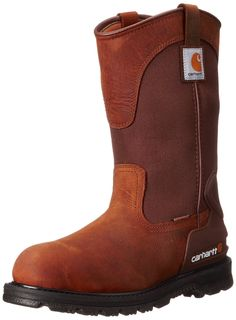 2d401871d4a0 Carhartt Mens 11 Wellington Waterproof Soft Toe PullOn Leather Work Boot  Bison Brown Oil Tan W US     Click image for more details.