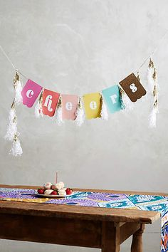 Cheers Banner - anthropologie.com