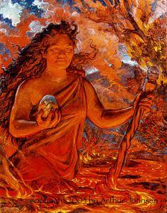 Pele by Arthur Johnsen Hawaiian Mythology, Hawaiian Goddess, Hawaiian Legends, Hawaiian Art, Hawaii Volcanoes National Park, Volcano National Park, Full Moon September, September 2013, Science Images