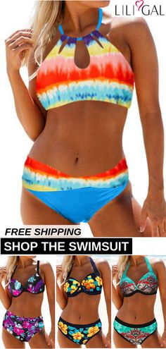 Free Shipping & Easy Return. Up to 55% Off. Sexy Printed Beach Bikini Swimsuits For Women. #liligal #swimsuit #swimwear #beachwear #tankini #bikiniset #onepieceswimsuit
