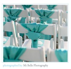 awesome idea... Love the tiffany blue for a wedding :) #timelestresure