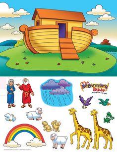 Noah's Ark story figures to print Sunday School Projects, Sunday School Activities, Sunday School Lessons, Preschool Bible, Bible Activities, Church Activities, Bible Story Crafts, Bible Stories, Noah's Ark Story