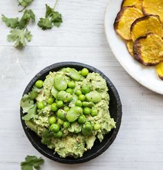 Spring Pea + Fava Bean Guacomole / What's Cooking Good Looking