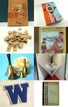 Vintage Back to School Treasury Collection all for sale on etsy