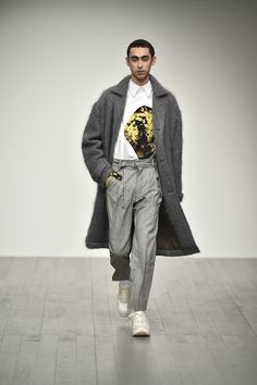 men's styling: Alex Mullins AW18 collection at London Fashion Wee...