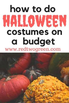 Want to do halloween costumes on a budget? You don't have to spend an arm and a leg to dress up for Halloween. Find out all of our money saving hacks at www.redtwogreen.com