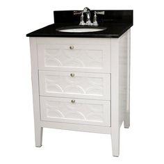 Bathroom Vanities 24 X 16 foremost madison black integral bathroom vanity with vitreous