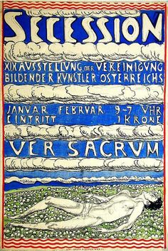 By Ferdinand Hodler, 1904, Secession, Imp. Paul Bender, Wien.