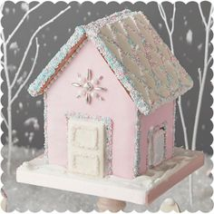 Holiday Baking with Peggy Porschen — Allure with Decor Gingerbread House Designs, Christmas Gingerbread House, Christmas Sweets, Noel Christmas, Pink Christmas, Christmas Goodies, Gingerbread Houses, Holiday Baking, Christmas Baking