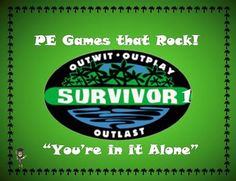"""This lesson plan and diagram is for a large group physical education class game called """"Survivor 1; You're in it alone"""". It is a fast paced, high energy and extremely fun game for students of all ages."""