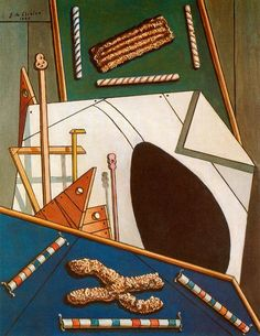 Metaphysical Interior with Biscuits. Giorgio De Chirico
