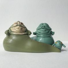 Jabba the Hutt (TLG SW071) Jabba the Hutt Tan Face (TLG SW402) Rotta (TLG SW193) by magic_figs
