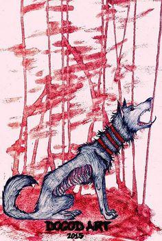 dark NESS A4, watercolor, ballpoint pen