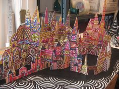 Rob Dunlavey_Crystal Cities Sculptures.  Great for creative childs play.  They can rearrange the city.