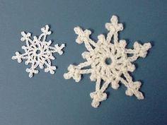 Easy 2-row crochet snowflake tutorial - YouTube