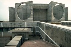 National Assembly in Dacca, Bangladesh.1962. Louis Kahn