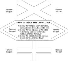 How to make union flag. Brownies Activities, Scout Activities, Kindergarten Activities, Rainbow Activities, Brownies Girl Guides, Brownie Guides, Flag Template, Templates, Fun Crafts For Girls