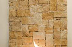 Irregular sandstone feature wall (full width)